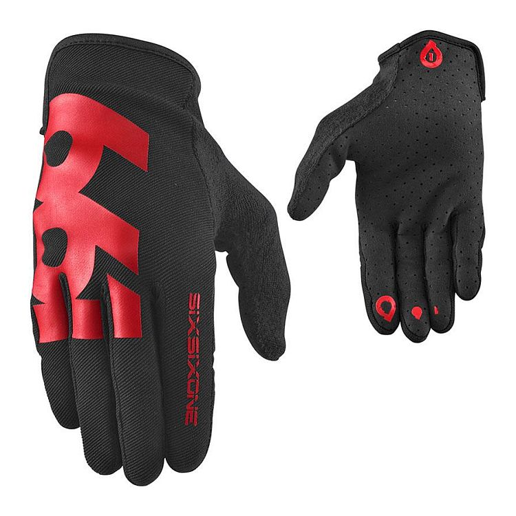 661 COMP 15 gloves - SixSixOne - black/red