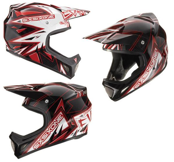 661 Evo (evolution) helmet New Wave red/black