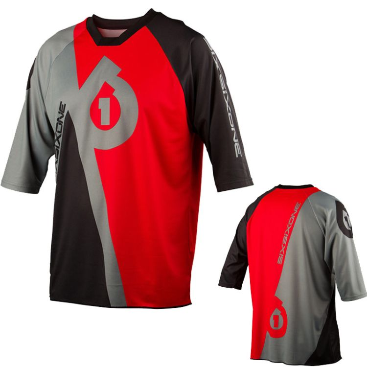 661 SixSixOne Freeride Jersey dres RED