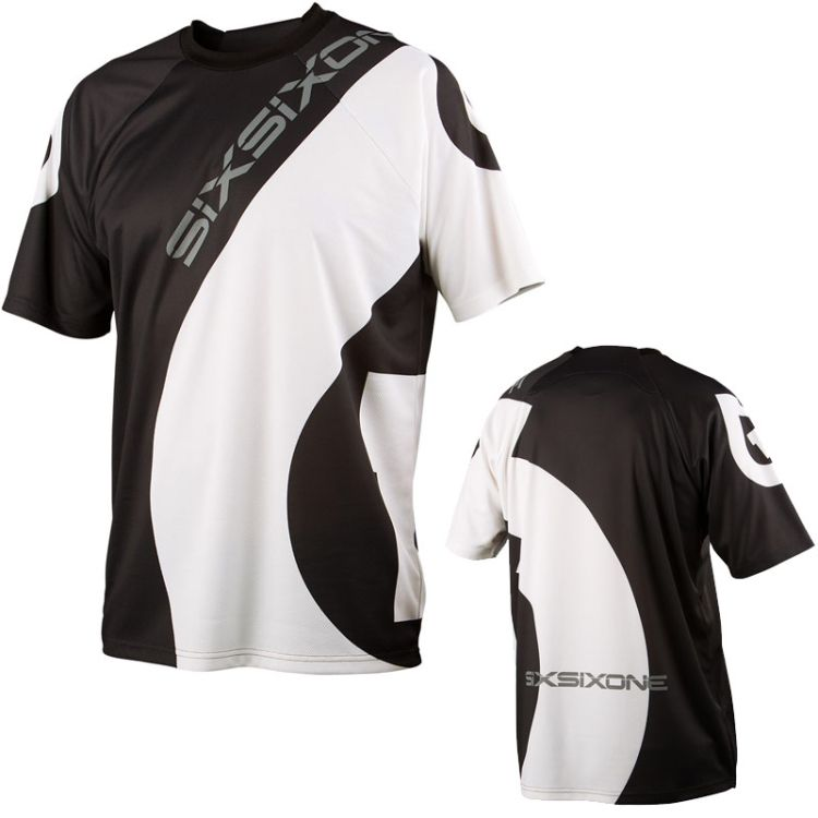 661 SixSixOne Short Sleeve Jersey dres Black/white - vel. S