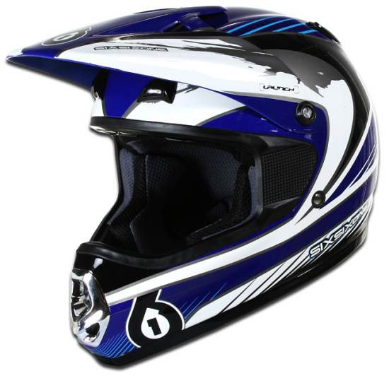 661 Launch helmet blue