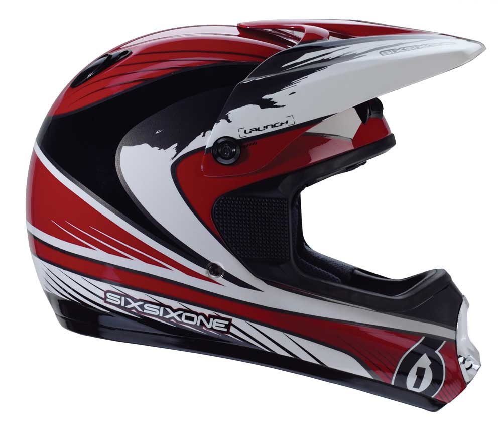 661 Launch helmet red