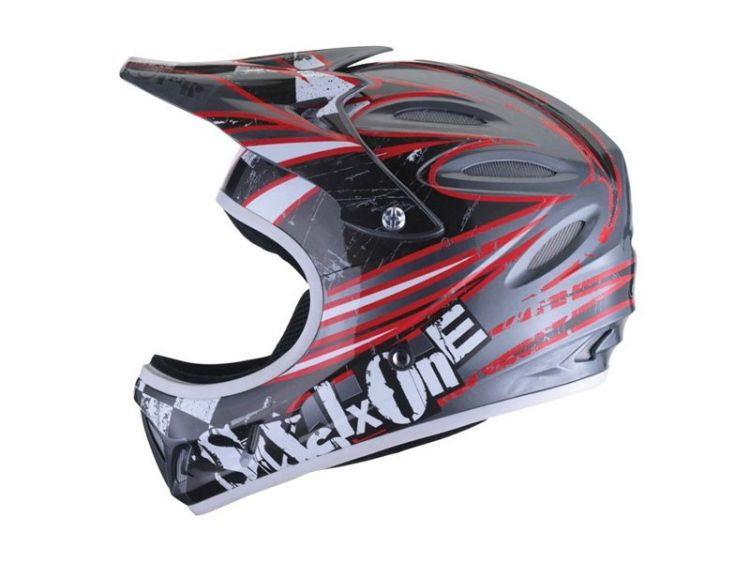 661 Strike helmetMet/Blk/Red - Sixsixone