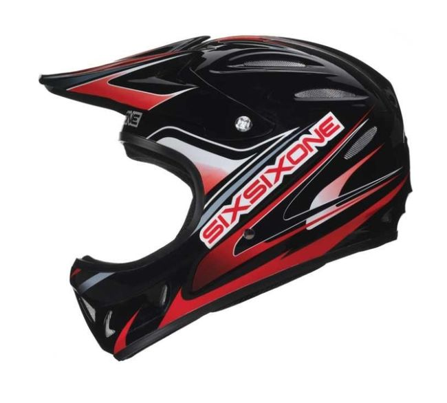 661 Strike helmet Blk/Red - Sixsixone