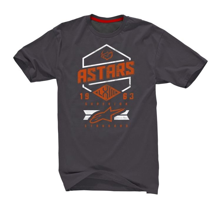 Alpinestars HEX Tech Tee Ride Dry - Steel Gray Spicy Orange
