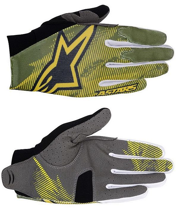 Alpinestars Aero rukavice Elmwood Green Yellow