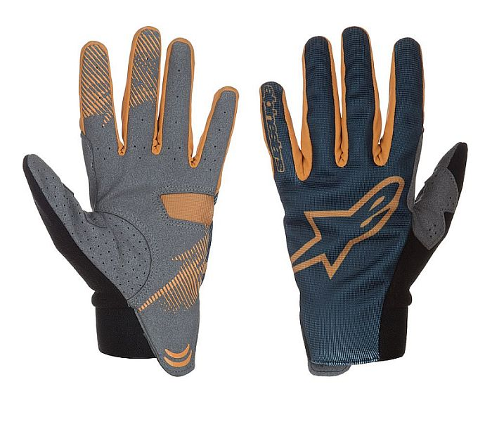 Alpinestars Aero gloves Abyss Blue Ochre