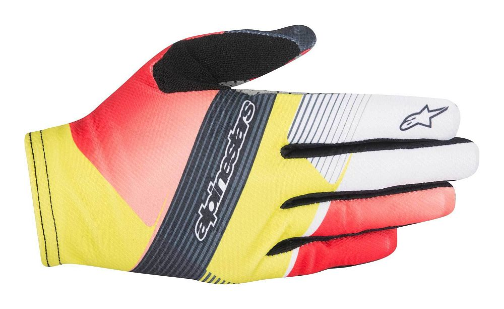 Alpinestars F-Lite DEPTH gloves Red White Acid Yellow