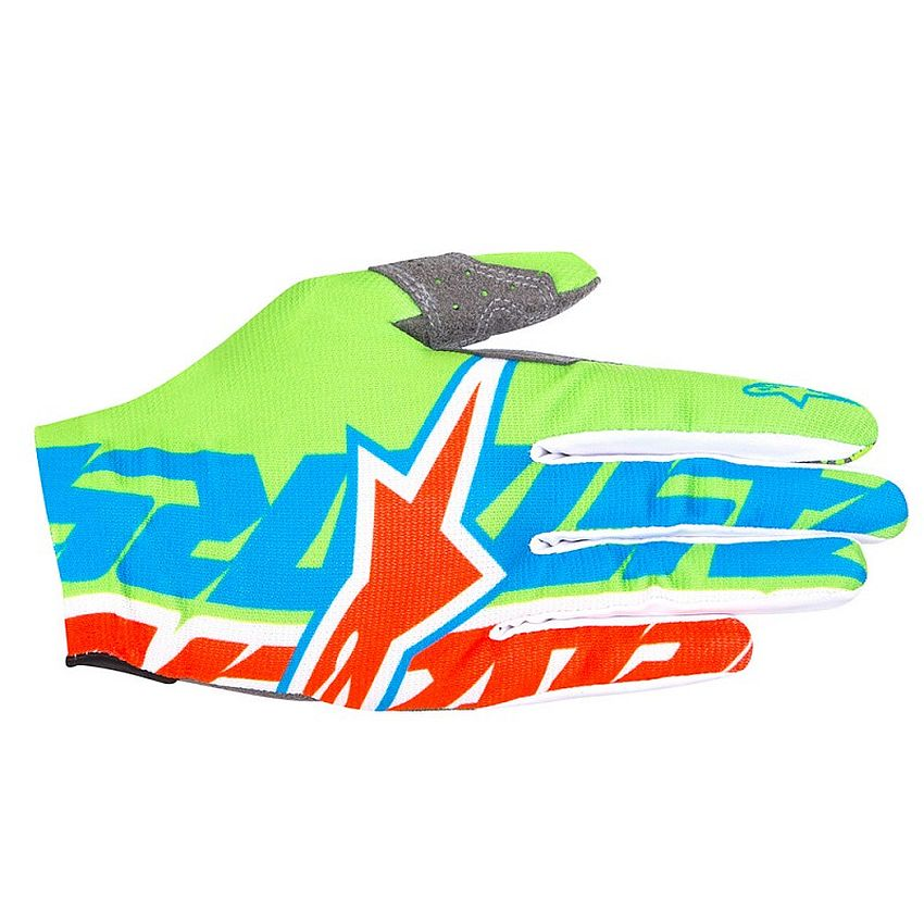 Alpinestars Rover gloves Bright Green Bright Blue Orange Fluo