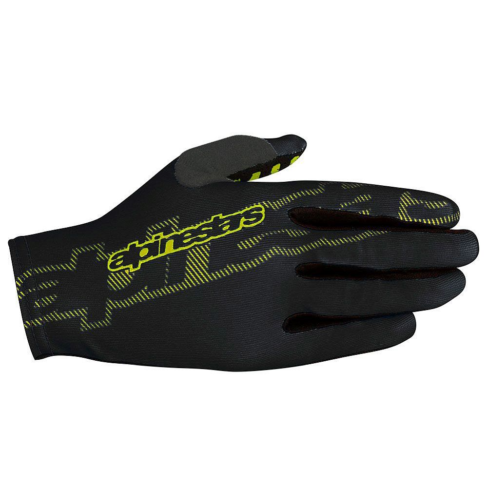 Alpinestars F-Lite rukavice Black Acid Yellow