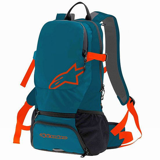 Alpinestars Faster Back pack - Sapphire Blue Spicy Orange