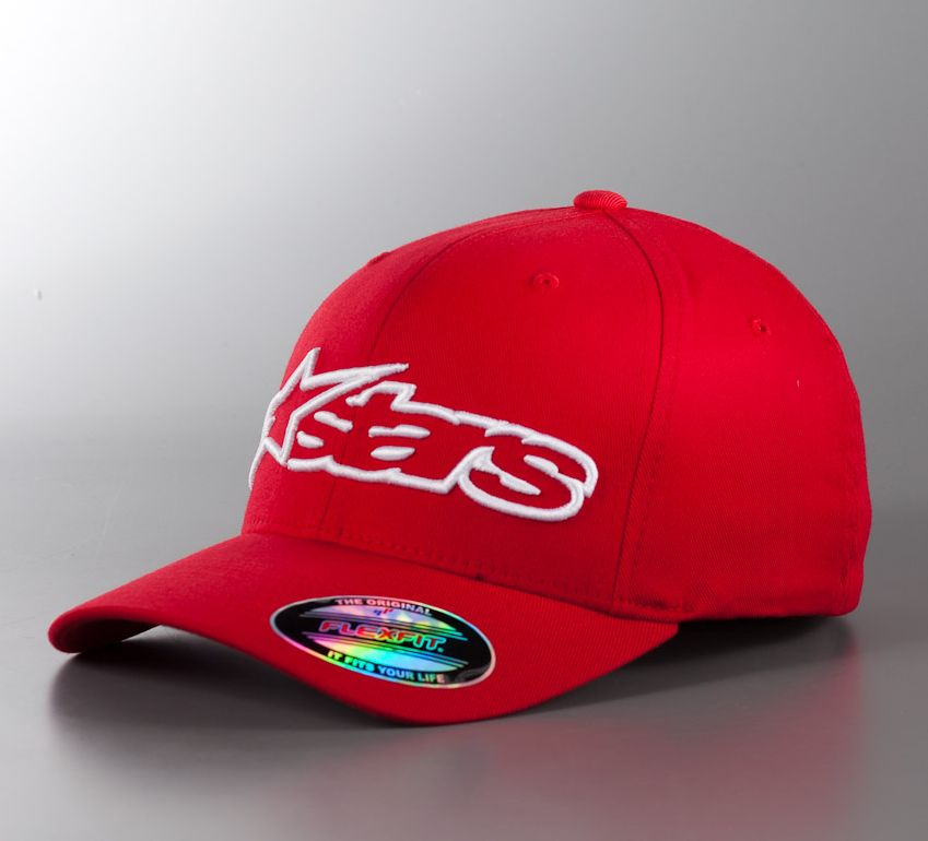 Alpinestars Blaze Flexfit hat Red / White - S/M