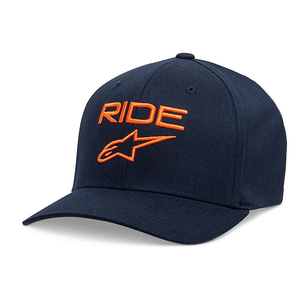 Alpinestars Ride 2.0 Curve hat Flexfit kšiltovka Navy / Orange