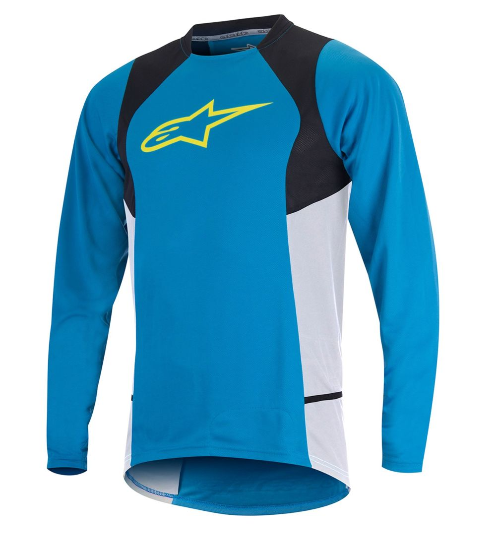 Alpinestars Drop 2 L/S Jersey Bright Blue Acid Yellow