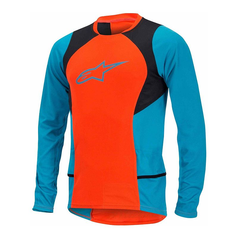 Alpinestars Drop 2 L/S Jersey dres Spicy Orange Saphire XXL