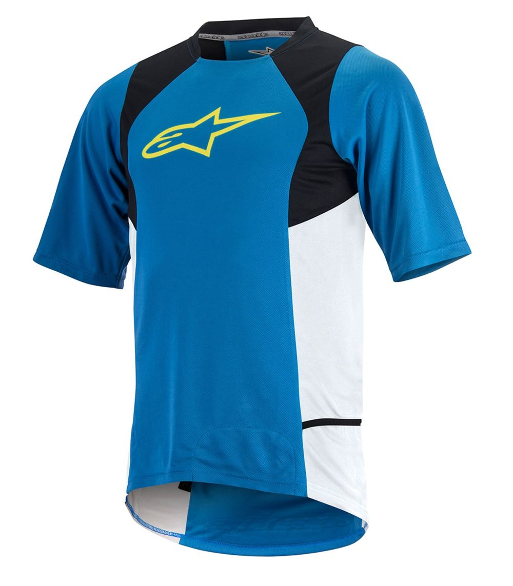 Alpinestars Drop 2 S/S Jersey dres Bright Blue Acid Yellow