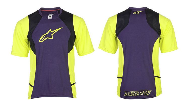 Alpinestars Drop 2 S/S Jersey Purple Acid Yellow
