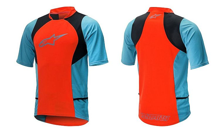 Alpinestars Drop 2 S/S Jersey dres Spicy Orange Sapphire Blue
