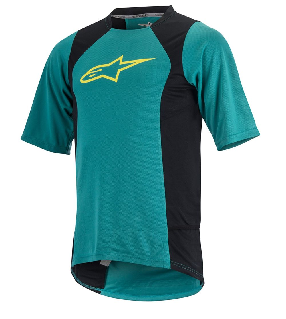 Alpinestars Drop 2 S/S Jersey Teal Green Acid Yellow