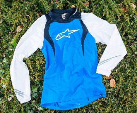 Alpinestars Drop L/S Jersey dres Electric Blue/White