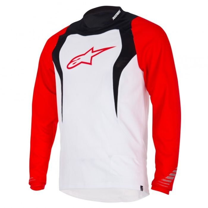 Alpinestars Drop L/S Jersey dres White / Black / Red- M size