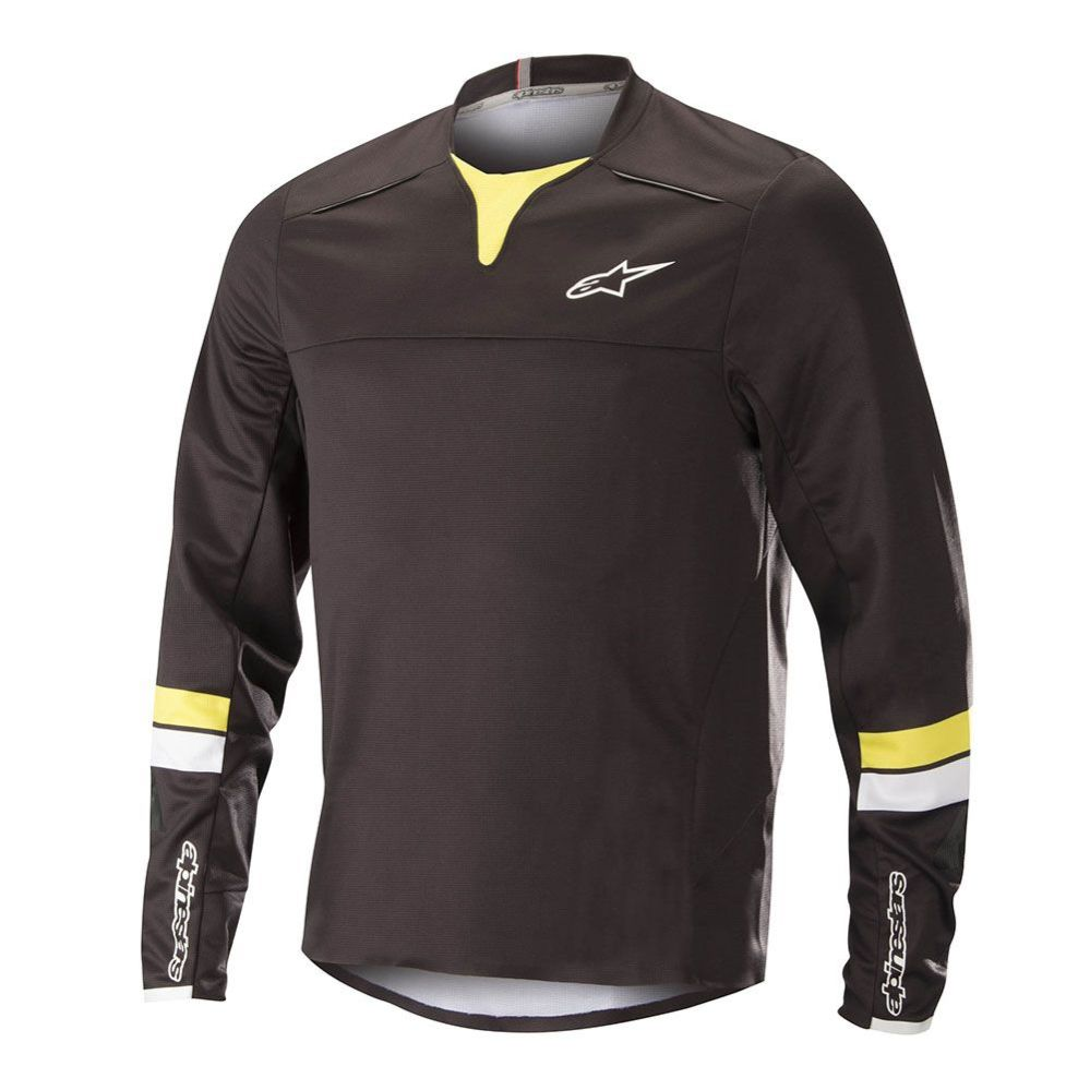 Alpinestars Drop PRO L/S Jersey Black Acid Yellow