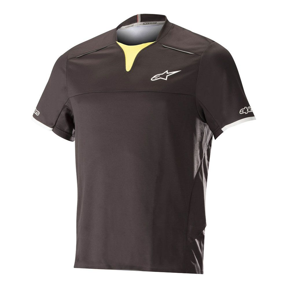 Alpinestars Drop PRO S/S Jersey Black Acid Yellow