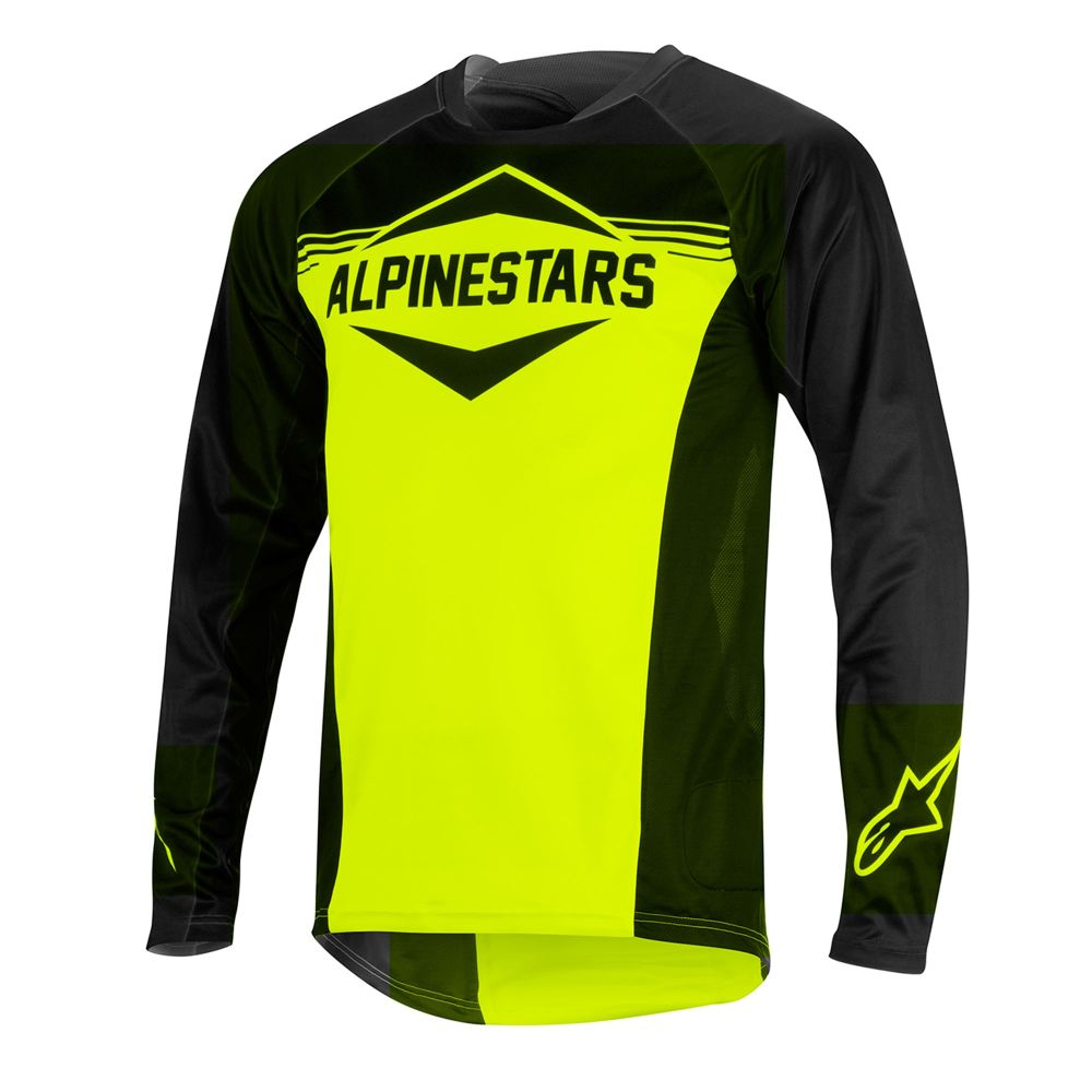 Alpinestars Mesa LS Jersey dres Black Acid Yellow