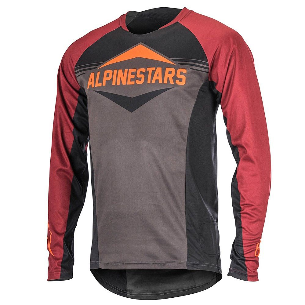 Alpinestars Mesa LS Jersey Black Rio Red Dark Shadow