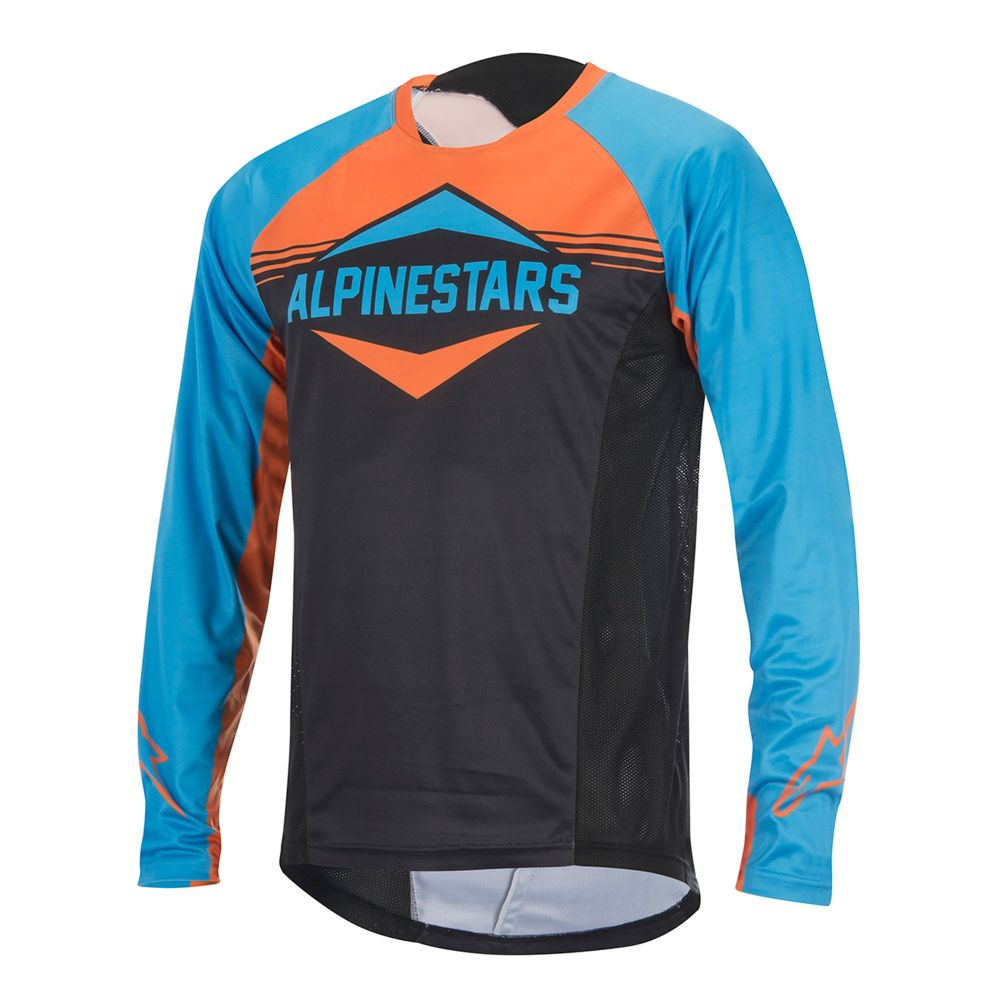 Alpinestars Mesa LS Jersey Bright Blue Bright Orange