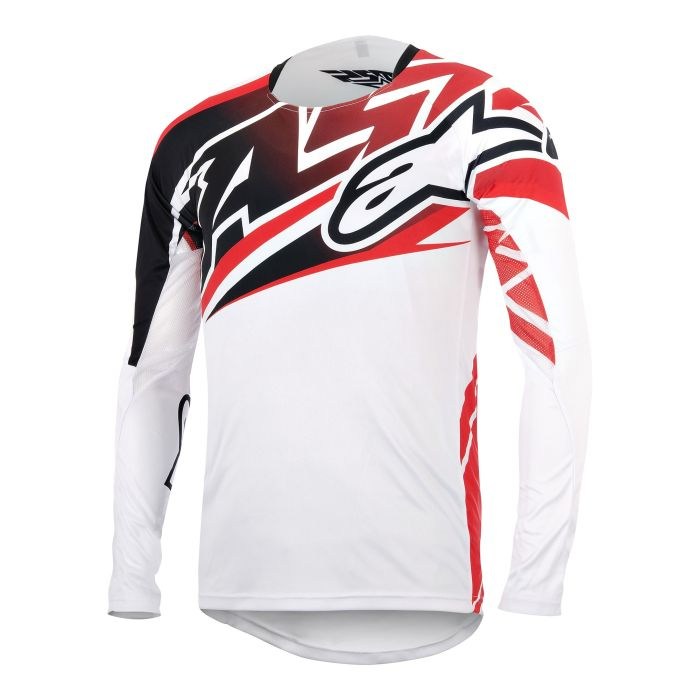 Alpinestars Sight L/S Jersey White/Black/Red