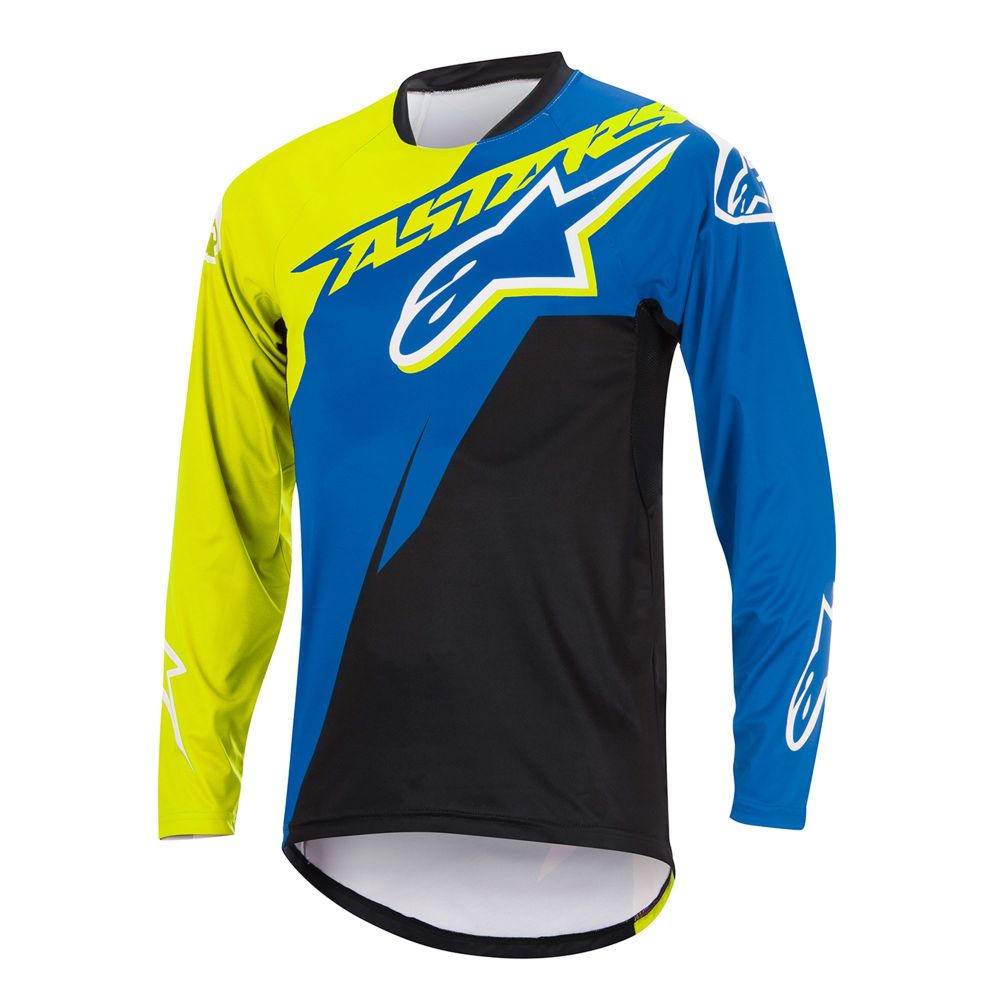 Alpinestars Sight Contender L/S Jersey Royal Blue/Acid yellow