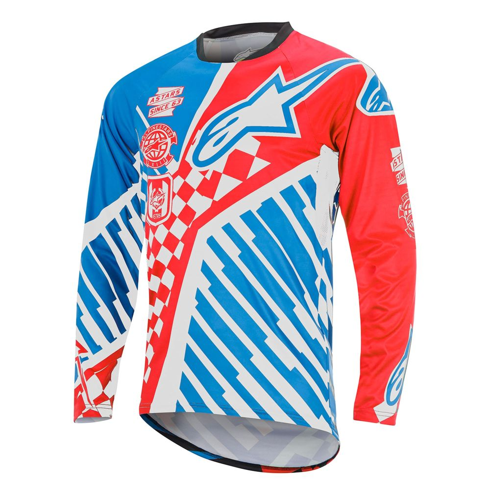 Alpinestars Sight Speedster L/S Jersey Red/Bright Blue