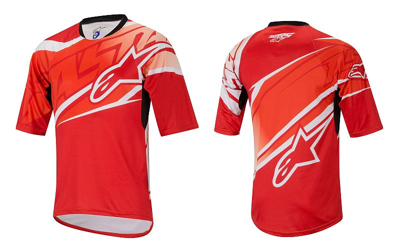 Alpinestars Sight S/S Jersey dres Red/Spicy Orange