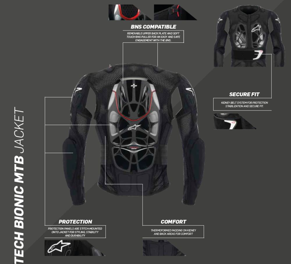 Alpinestars Bionic Tech MTB Jacket BNS compatible