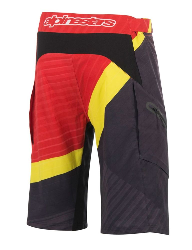 Alpinestars Depth Shorts Red/Acid Yellow/Black kraťasy