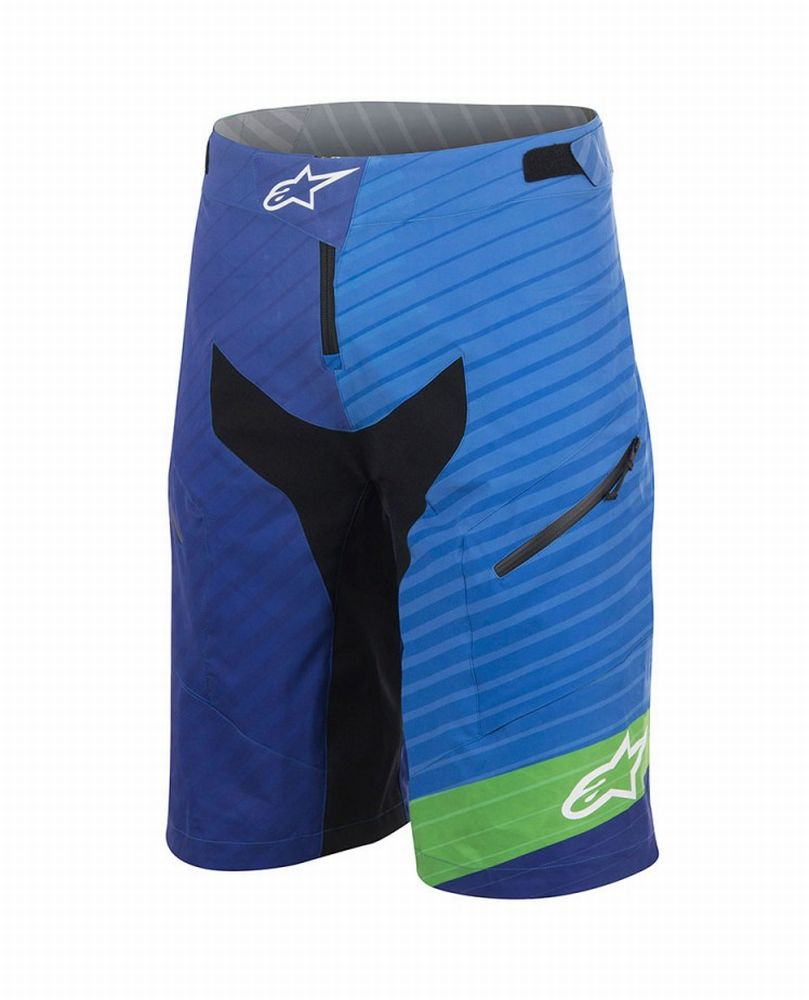 Alpinestars Depth Shorts Royal Blue/Bright Green kraťasy