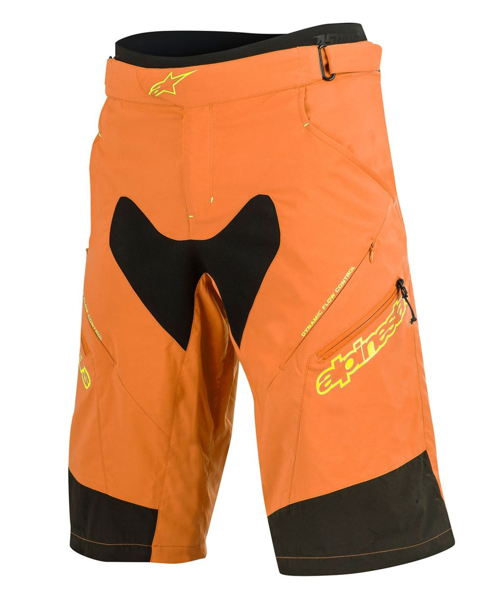 Alpinestars Drop 2 Shorts Bright Orange Acid Yellow
