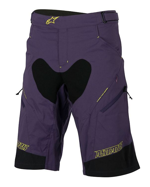 Alpinestars Drop 2 Shorts Purple Acid Yellow