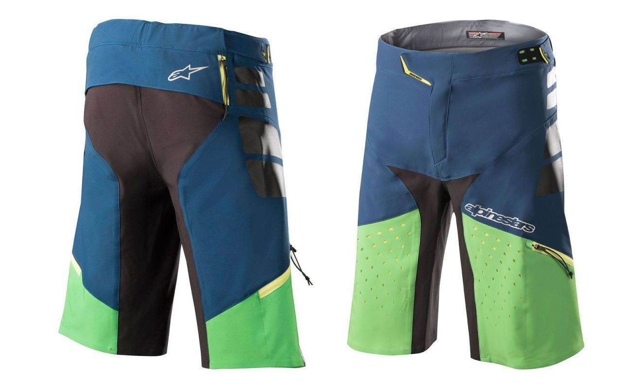Alpinestars Drop PRO Shorts Poseidon Blue Summer Green