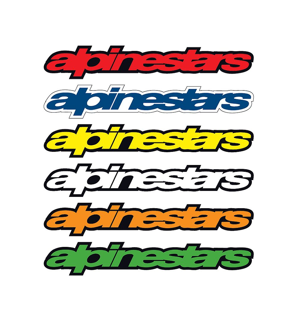 Alpinestars sticker Wordmark (7 cm)