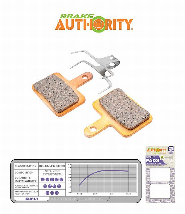Brake Authority Burly - Shimano Deore brake pads