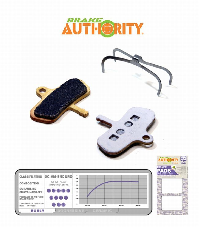 Brake Authority Burly - Avid Code brake pads