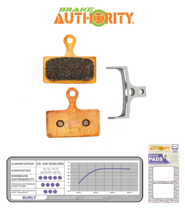 Brake Authority Burly - Shimano XTR (m985) brake pads