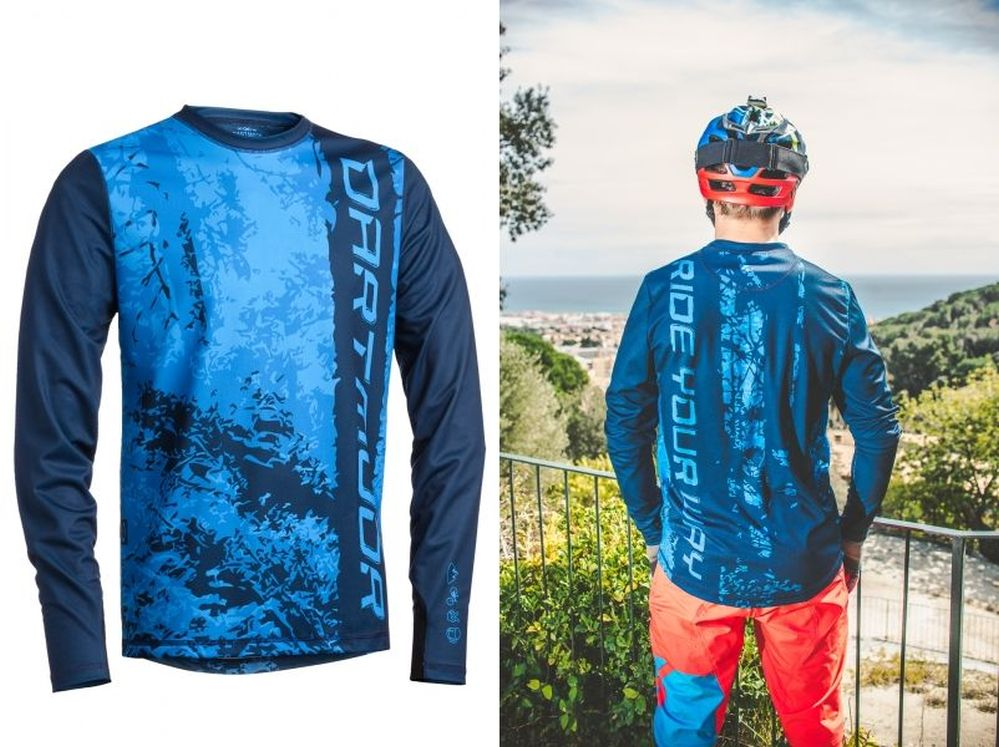 Dartmoor Woods Tech Jersey - LS - Blue