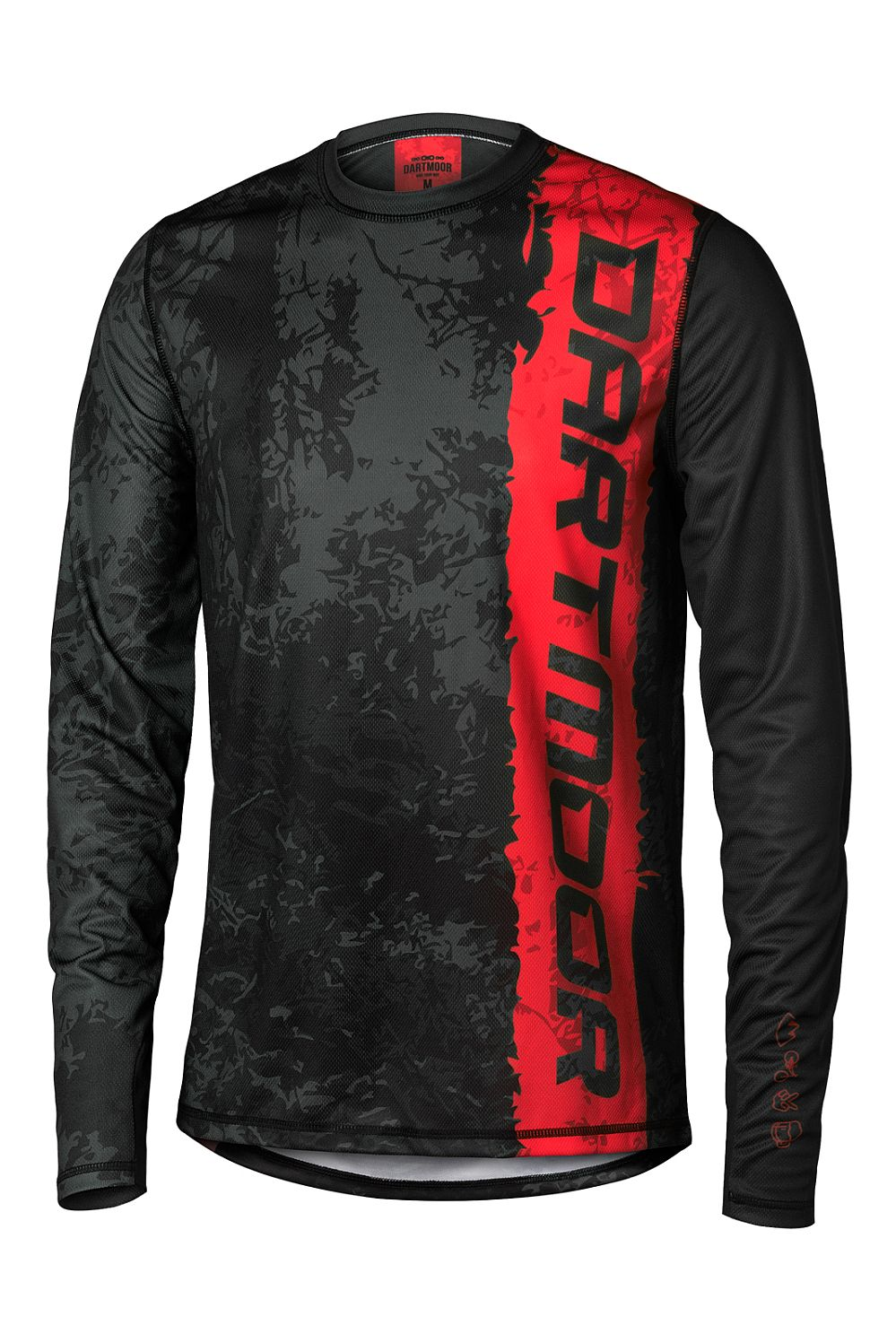 Dartmoor Woods Tech Jersey - LS - Red Devil Black