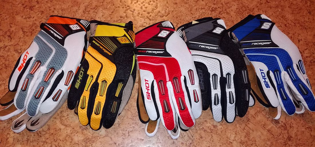 Shot Flexor gloves yellow