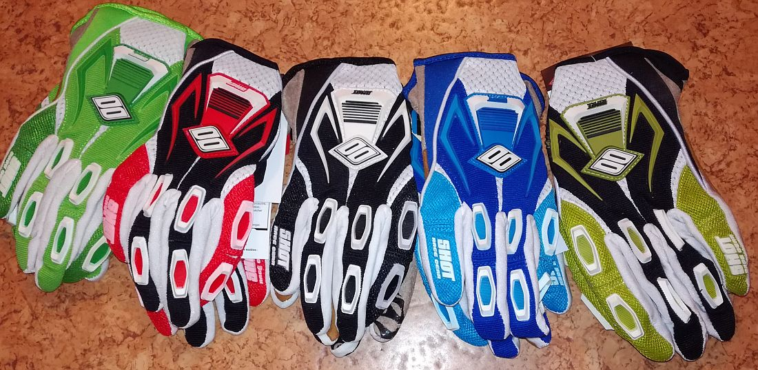 Shot Race Flexor gloves red size S