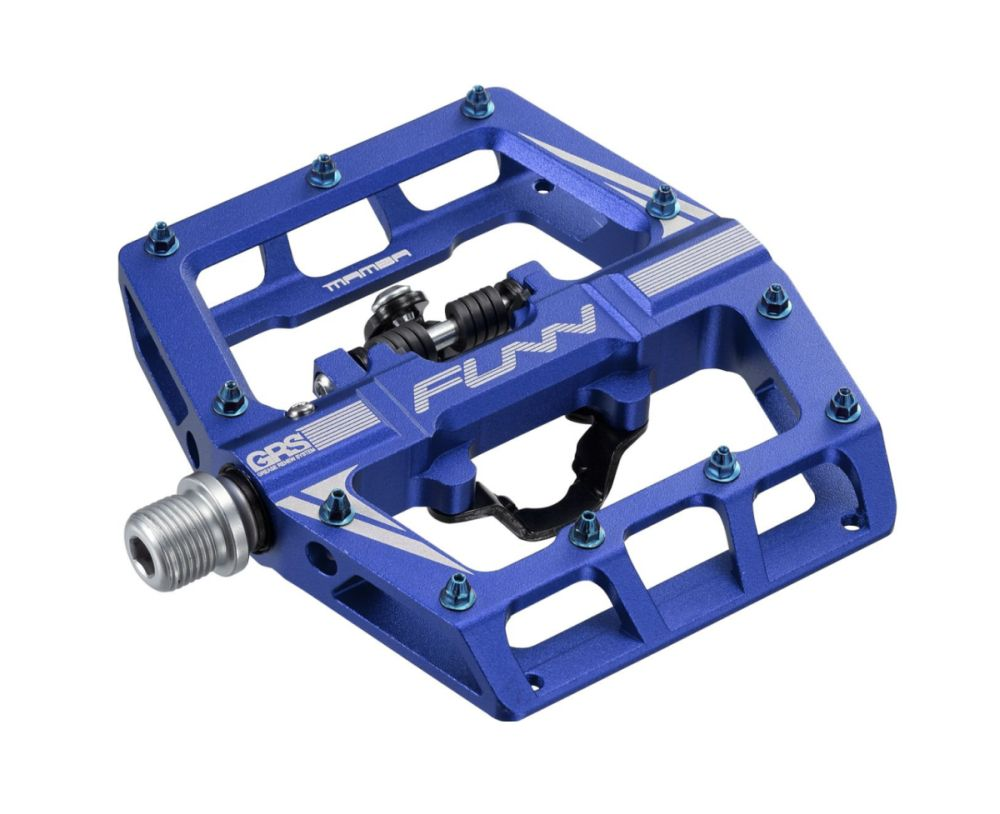 FUNN Mamba One side SPD - GRS pedals blue