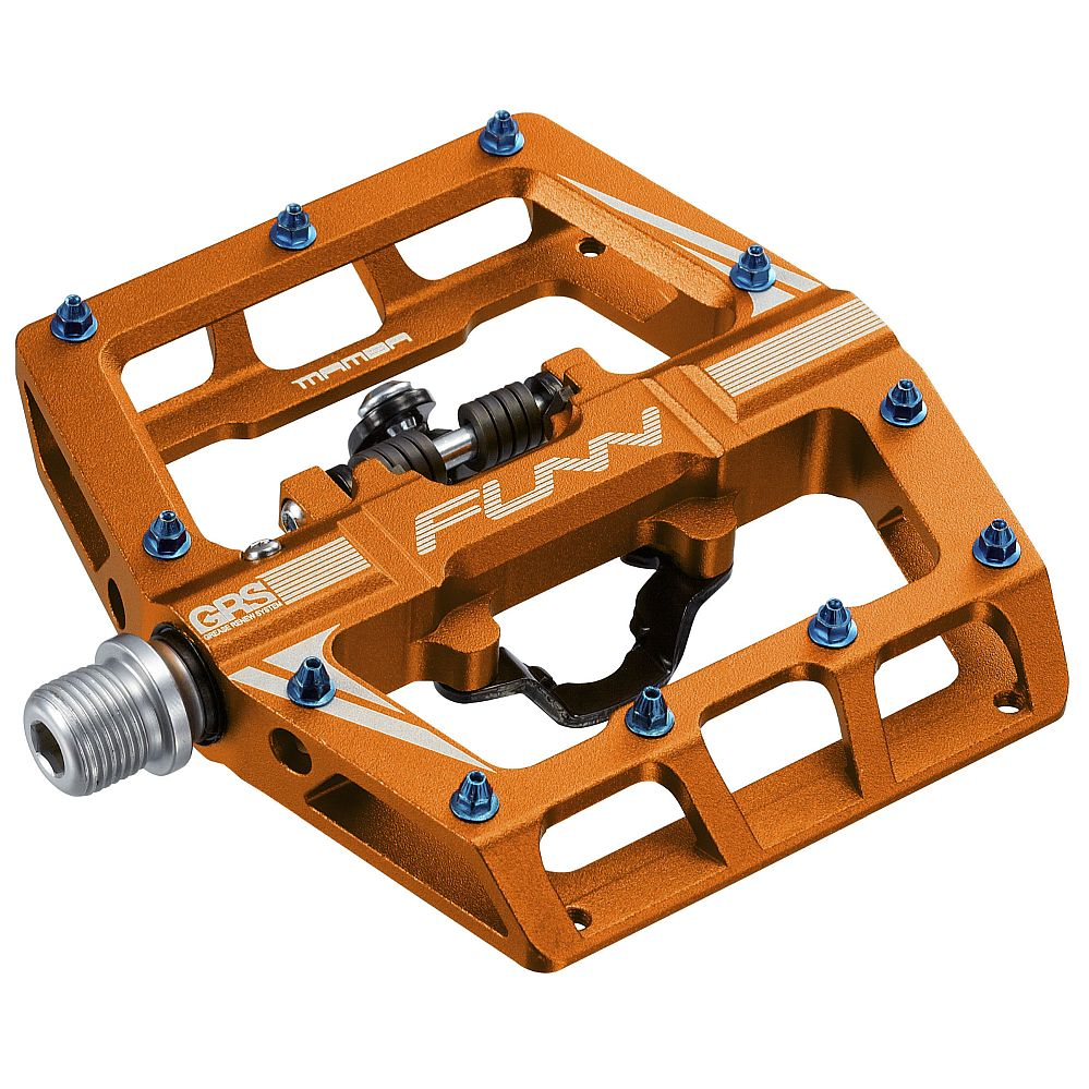 FUNN Mamba One side SPD - GRS pedals Orange